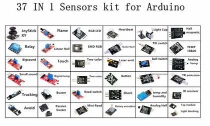 37 In 1 Sensor Module Board Set Starter Kits SENSOR KIT For Arduino Plastic Bag Package