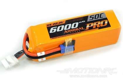 Admiral Pro 6000mAh 6S 22.2V 50C LiPo Battery with EC5 Connector
