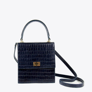 No. 19 The Mini Lady Bag Croc Embossed