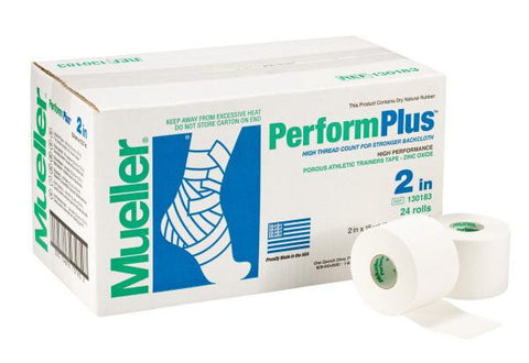 Mueller Perform Plus Porous Athletic Trainers Tape - case of 24 rolls