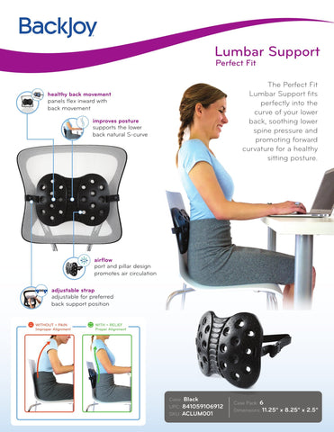 BackJoy Posture Plus |Orthopedic Seat Cushion for Lower Back Pain | Back Pain Cushion | for Adults