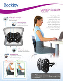 BackJoy Perfect Lumbar Orthopedic Lumbar Support for Back Pain | Perfect for Office Chair or Car Seat with Adjustable Strap, Lumbar Support