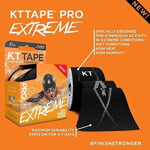 KT Tape PRO Extreme Therapeutic Elastic Kinesiology Sports Tape, 150 Pre Cut 10 X 2""