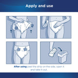 Unisex Adult Incontinence Brief Attends Small Disposable Heavy Absorbency