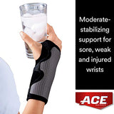 Wrist Brace 3M Ace Reversible Left or Right Hand Black / Gray One Size Fits Most