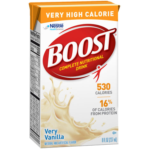 Oral Supplement Boost Very High Calorie Very Vanilla Flavor 8oz (Case of 27)