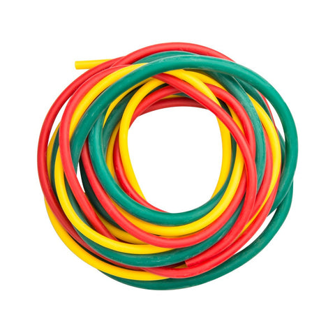 Cando 10-5380 Yellow/Red/Green Low-Powder Exercise Tubing PEP Pack, Easy Resistance