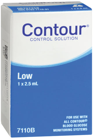Blood Glucose Control Solution Contour Blood Glucose Testing 2.5 mL