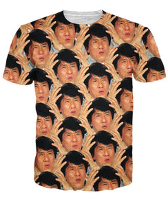 Jackie Chan WTF All Over T-Shirt