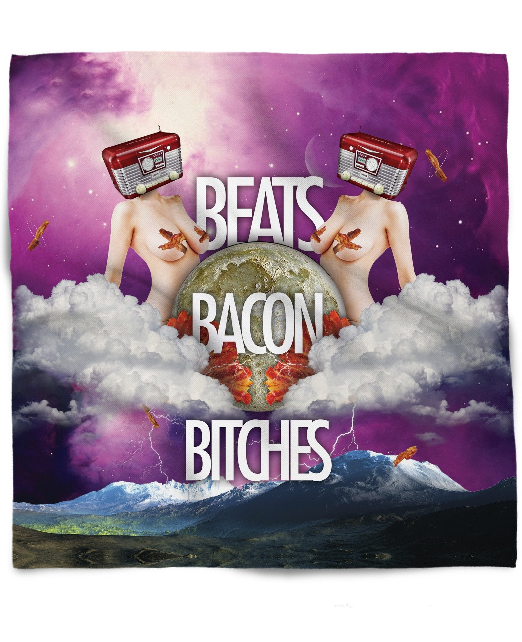 Beats Bacon Bitches Bandana