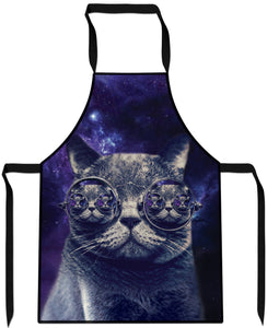 Hipster Cat Cooking Apron