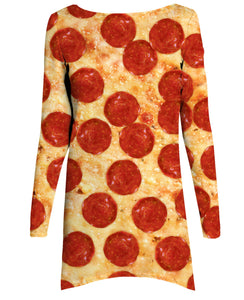 Pizza Long-Sleeve Dress