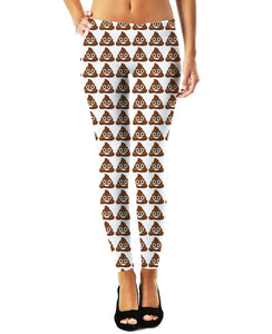 Poop Emoji Leggings