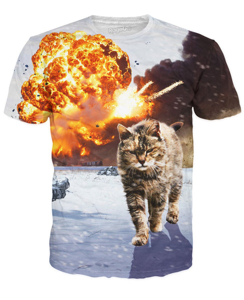 Cats Don't Look at Explosions T-Shirt
