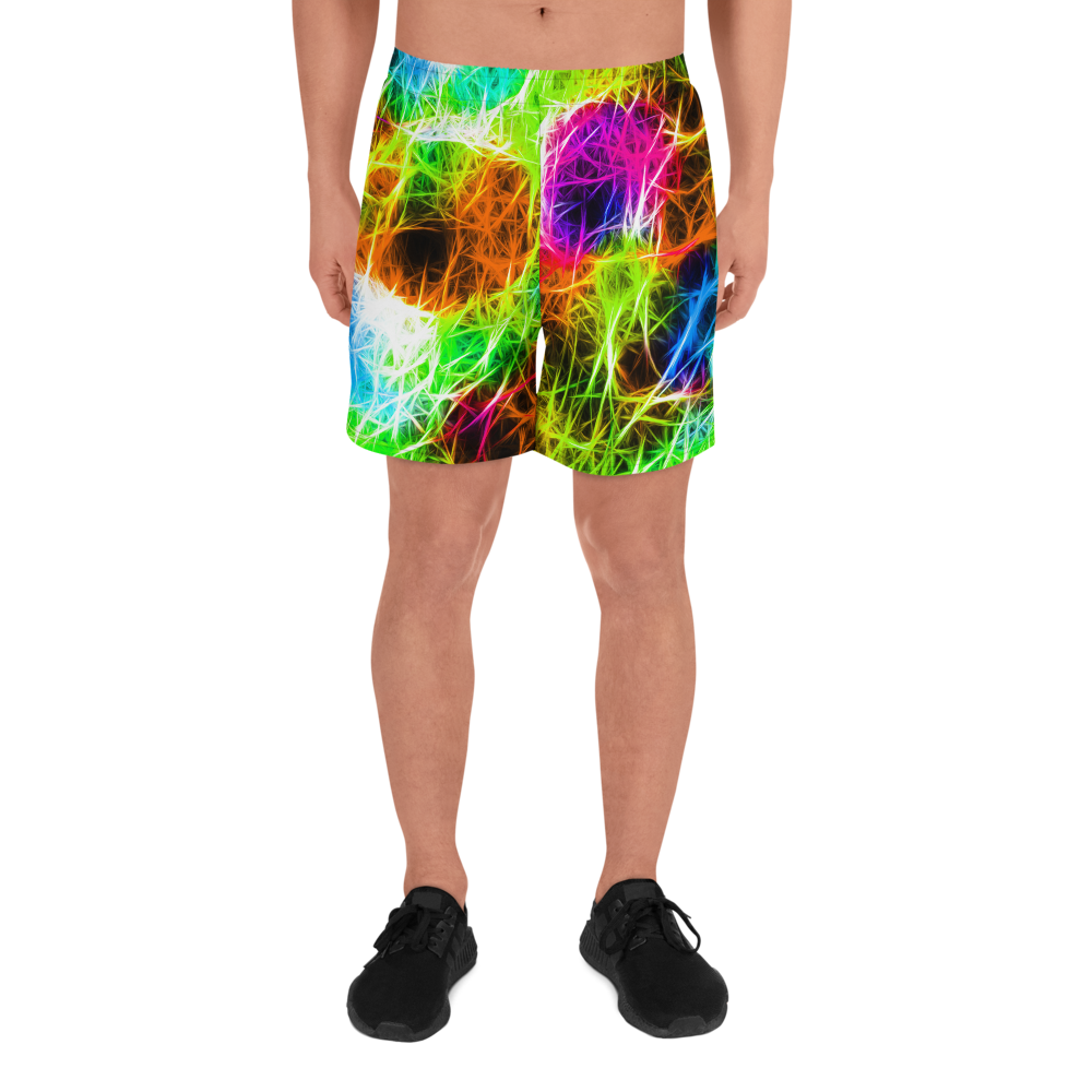 Electro Vibes Men's Athletic Long Shorts