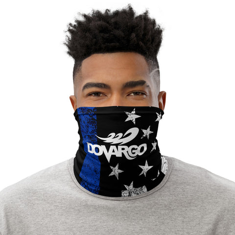 Dovargo Thin Blue Line Logo Distressed Art Neck Gaiter