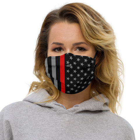Thin Red Liune Flag Premium face mask