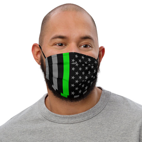 Thin Green Line Flag Premium face mask