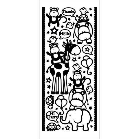 2522z - What a Zoo! - brown - Dazzles Stickers