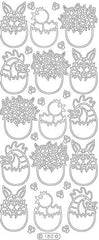 0180 - Easter Eggs  small - Starform Stickers