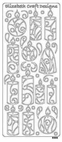 0294k - Candles - Elizabeth Craft Designs Stickers