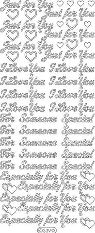 0339g - Various Greetings of Love - gold - Starform Stickers
