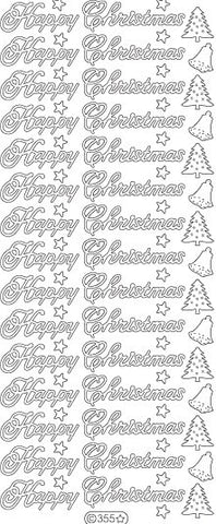 0355 - Happy Christmas - Starform Stickers