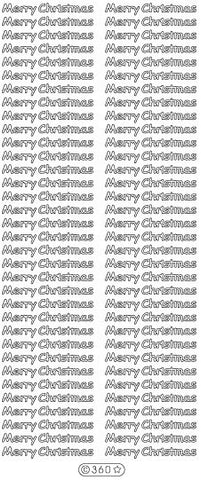 0360 - Merry Christmas - Starform Stickers