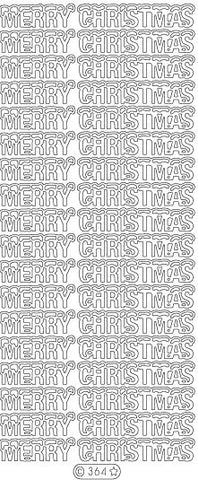 0364 - Merry Christmas (snow topped) - Starform Stickers