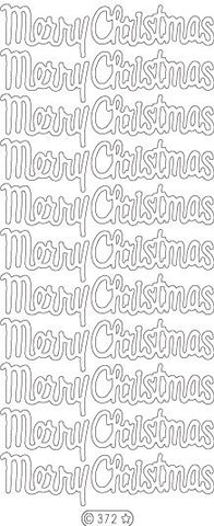 0372 - Merry Christmas medium - Starform Stickers