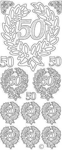 0812g - 50th Anniversary - gold - Starform Stickers