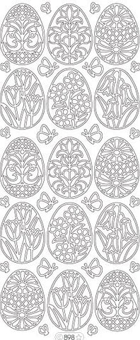 0898 - Fancy Eggs small - Starform Stickers