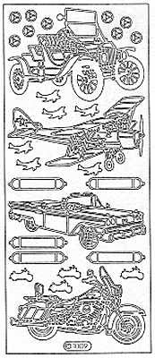 1009 - Cars, Airplane, Motorcycle - Starform Stickers