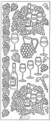 1066 - Wine Motifs - Starform Stickers