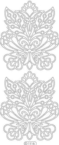 1116g - Fancy Floral - gold - Starform Stickers