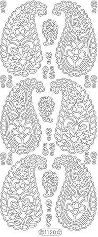 1120g - Paisley large - gold - Starform Stickers