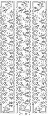1135 - Flower Border - Starform Stickers