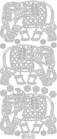 1154 - Asian Elephant - Starform Stickers