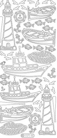 1171 - Boats/Lighthouses - Starform Stickers