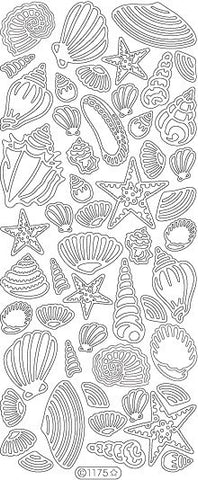 1175 - Seashells - Starform Stickers