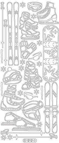 1212s - Winter Sports - silver - Starform Stickers