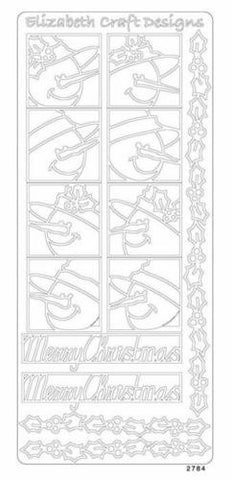 1235k - Snowmen Faces - gold - Elizabeth Craft Designs Stickers