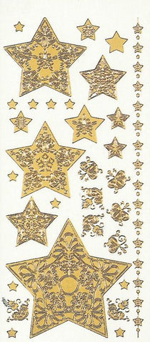 1843z - Stacked Star - silver - Dazzles Stickers