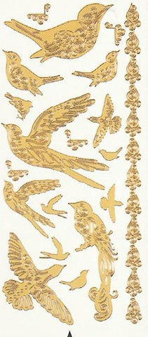 1852 - Birds - silver - Dazzles Stickers