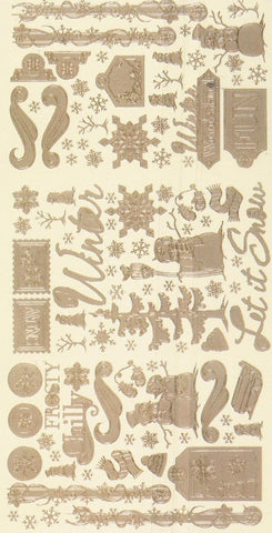 2001SB - Winter - scrapbook stickers - silver - Dazzles Stickers