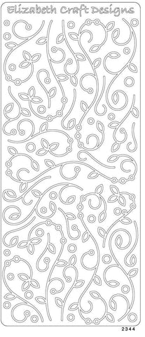2344dse - Branches with Leaves - double stick - Elizabeth Craft Designs Stickers