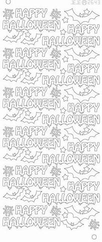 264300j - Happy Halloween - gold - JeJe Stickers
