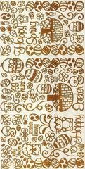 2802SB - Spring/Easter - scrapbook stickers - gold - Dazzles Stickers