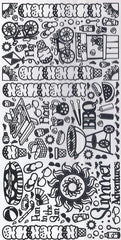 2805SB - Summer - scrapbook stickers - black - Dazzles Stickers