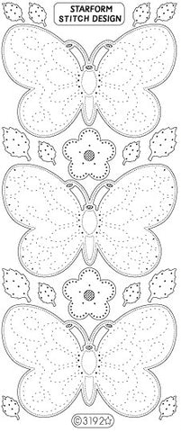 3192gp - Butterflies - gold pearl - Starform Stickers